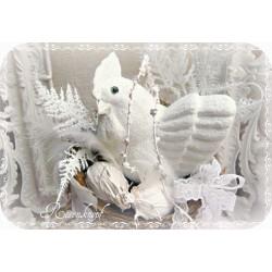 Ostern HENNE im NEST Weiß Shabby Osternest Gesteck