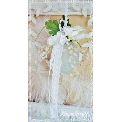 Osterei Mobile Glas Weiß Shabby