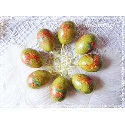 8er Set NOSTALGISCHE OSTEREIER Vintage Ostern Eier