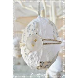 Osterei Weiß Ivory Shabby  E+K