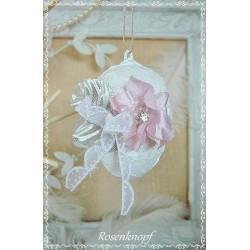 RESERVIERT OSTEREI Weiß Rosa Shabby Rose Spitze Ei