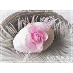 OSTEREI Weiß Rosa Shabby Rose Spitze Tüll Ei