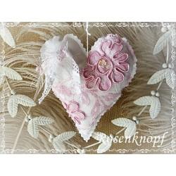 Herz Weiß Violett Shabby