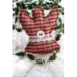 Engel Weihnachten Rot Weiß Shabby