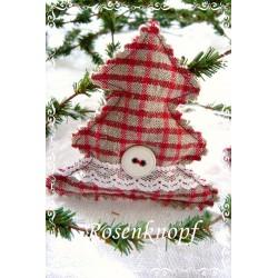 TANNENBAUM Weihnachten Rot Weiß