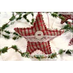 Stern Weihnachten Rot Weiß Shabby