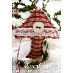 Pilz Weihnachten Rot Weiß Shabby