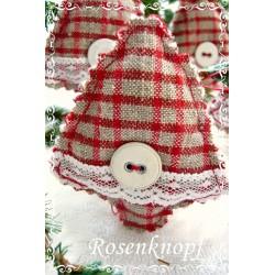 GLOCKE Weihnachten Rot Weiß
