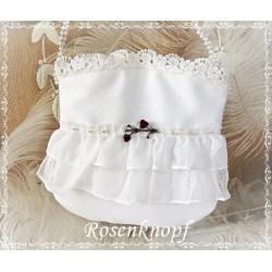 Handtasche Brauttasche Weiß Rosen