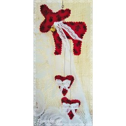 Mobile Elch Herz Rot Shabby Weihnachten   K