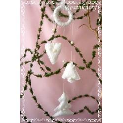 MOBILE Weihnachten Weiß