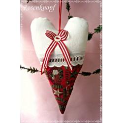 HERZ Weiß Rot Weihnachten