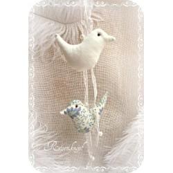 Girlande Windspiel Vögel Mobile Ivory Deko Mitbringsel Geschenk K