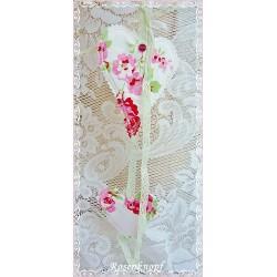 Girlande LISA-ROS-WEIß 2teilig Herzen Weiß Rosa Shabby Spitze