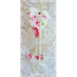Girlande Windspiel Herzen Weiß Rosen Shabby