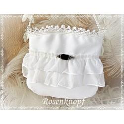 HANDTASCHE Brauttasche Tasche Abendtasche Damentasche Weiß UNIKAT Spitzen E