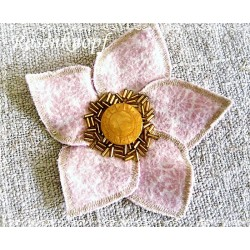 Ansteckblüte Brosche Brautschmuck
