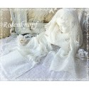 Schal~Tuch Brautstola Weiß