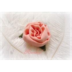 Ansteckblüte KLEINE ROSE Brosche Lachs Stoffbrosche