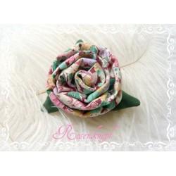 Ansteckblüte KLEINE ROSE Brosche Bunt Stoffbrosche