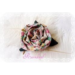 Ansteckblüte GROßE ROSE Brosche Bunt Stoffbrosche