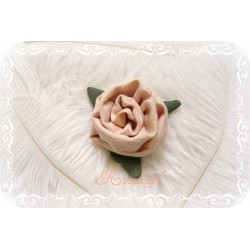 Ansteckblüte KLEINE ROSE Brosche Puder Brautschmuck