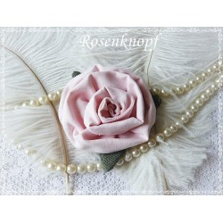 Ansteckblüte ROSE Rosa Brosche Brautschmuck