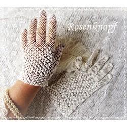 Handschuhe M Ivory Brauthandschuhe