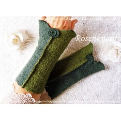 Walkstulpen Armstulpen Grün