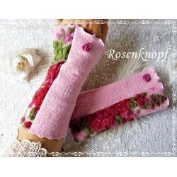 Walkstulpen Armstulpen Rosa