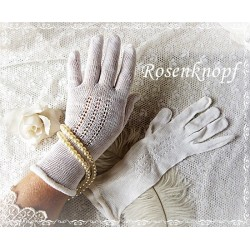 Handschuhe M Weiß Brauthandschuhe