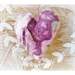 Herz Rosa Weiß Shabby