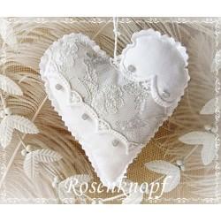 Herz Weiß Shabby