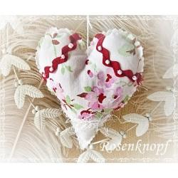 Herz Weiß Rot Shabby