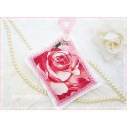 Lavendel Duftkissen ROSE Shabby Spitze