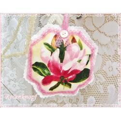 Lavendel Duftkissen PURPLE MAGNOLIA Shabby Spitze