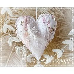 Herz Weiß Apricot Shabby