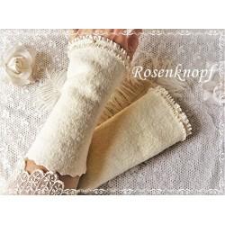 Walkstulpen Braut Ivory