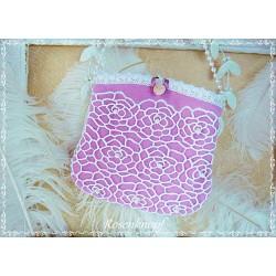 TASCHE Brauttasche Rosa Pink Ivory Handtasche Damenhandtasche Abendtasche Ball Hochzeit Umhängetasche K
