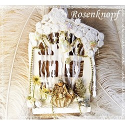 Holzfenster Engel Weiß Gold  K