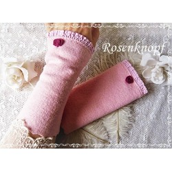 Walkstulpen Brautstulpen Rosa