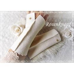 Walkstulpen Brautstulpen Ivory