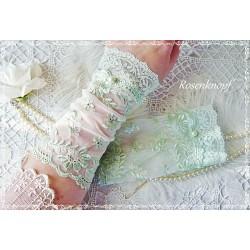 Spitzenstulpen Brautstulpen Hellgrün Mint