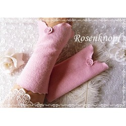 STULPEN Brautstulpen Armstulpen Rosa Walkstulpen Pulswärmer Handstulpen Rose Frauen E