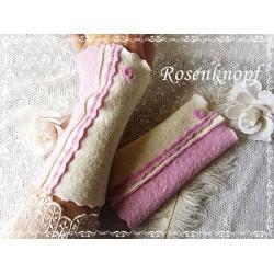 Walkstulpen Ivory Rosa Unikat Damen E