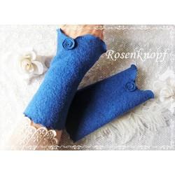 WALKSTULPEN Armstulpen Blau