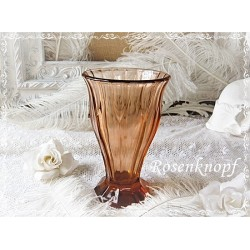 VASE Glasvase 1920 Rosalinglasvase Rosalinglas Shabby Glas Rosalin Vintage Brocante Tischschmuck Blumenvase E