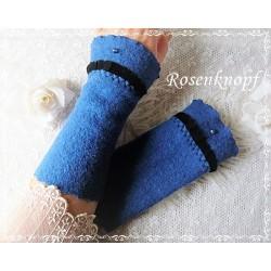 Walkstulpen Armstulpen Nachtblau