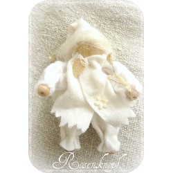 FILZ-WICHTEL im Shabby-Stil Weiß oder Rosa
