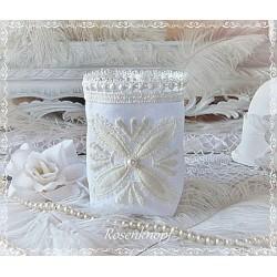 WINDLICHT Lichtbeutel Glashusse Weiß Ivory